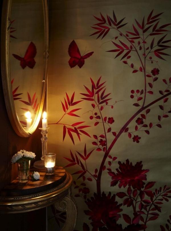 Handbemalte Seidentapeten : Hand Painted Chinese Silk Paintings