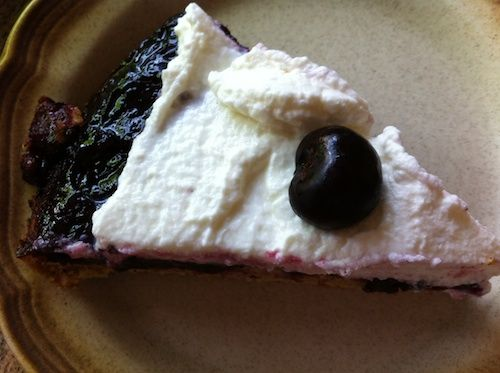 cherry cornmeal upside down cake with whipped cream | Whole Parenting ...