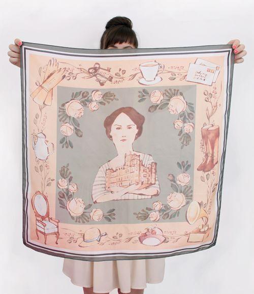 Downton Abbey Lady Mary silk scarf