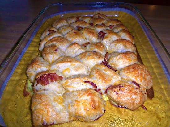 Bacon. Egg and Cheese Pull-a-Parts | Recipes: Pull-Aparts, Monkey Bre ...
