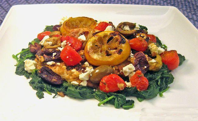Greek Chicken, Made with Feta, Olives, Oregano, & Roasted Lemons ...