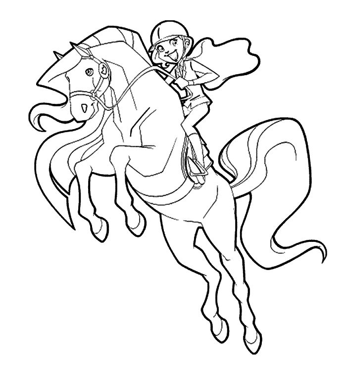 girl riding horse coloring pages - photo#6