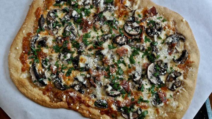 Whole Wheat Fontina Portobello Pizza | Bon Appétit | Pinterest