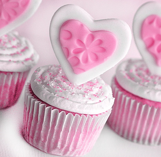 Sweetheart Cupcakes ♥ | Yummm, Cupcakes! | Pinterest