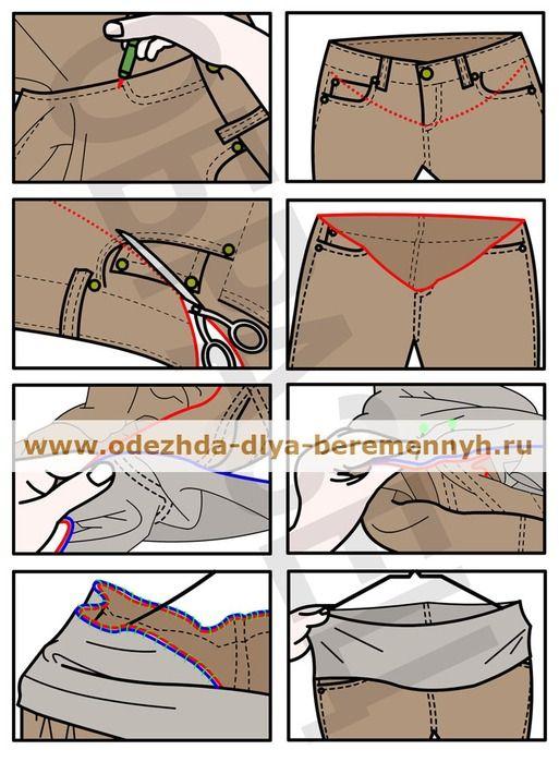 Сшить брюки для беременных из старых брюк своими руками 88