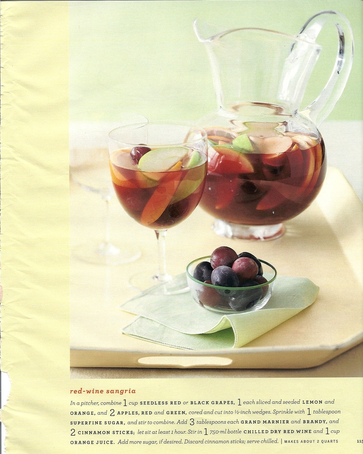 Apple Cinnamon Sangria | Favorite Recipes | Pinterest