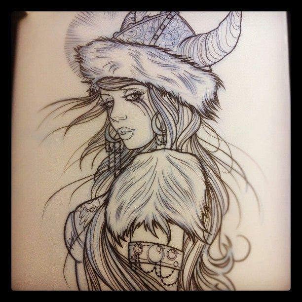 Viking Girl Tattoo