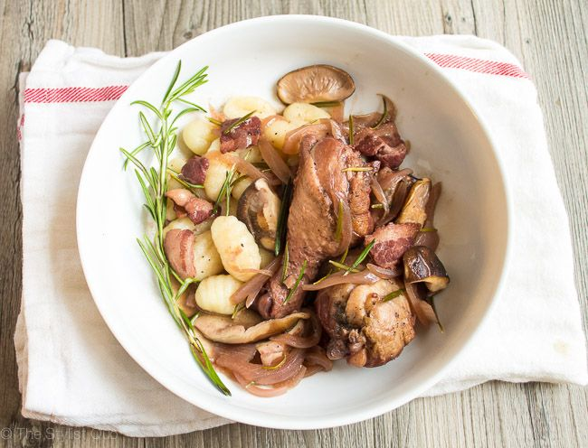 Red Wine-Braised Chicken with Rosemary and Mushrooms