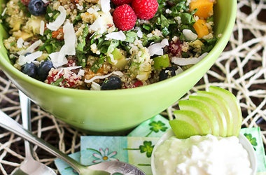 Breakfast Quinoa Salad — Punchfork | Soups and Salads | Pinterest