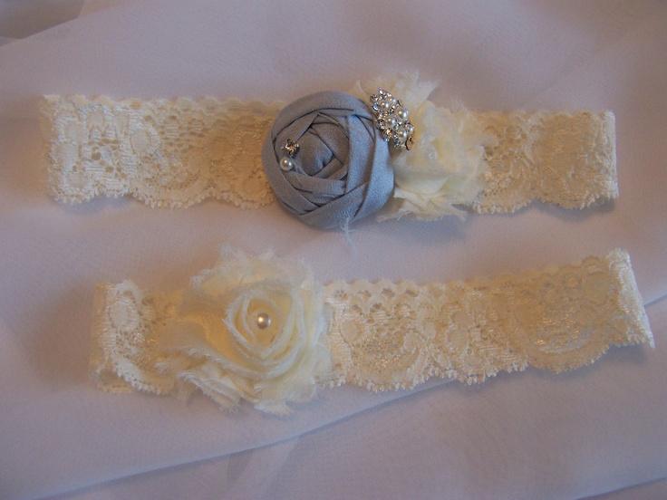Beautiful Silk and Chiffon Rosette on Ivory by BridalbyVanessa.