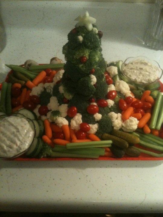 Christmas veggie tray christmas amp new years pinterest