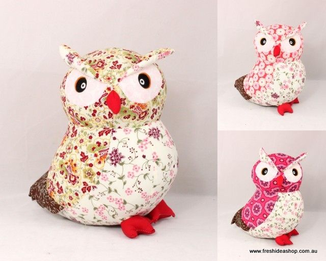 Free Stuffed Owl Pattern | ... Style Floral Pattern Soft Toy Stuffed ...