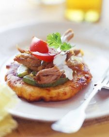 ... Mexican Corn Cakes, Red Beans with Cheese, and Tequila-Soaked Sorbet