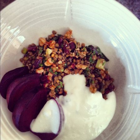 Roasted beet and lentil salad | Food | Pinterest