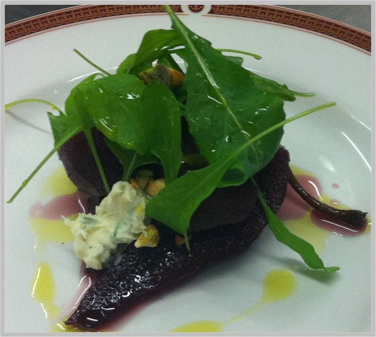 Poached Pear and Gorgonzola Salads with Wild Honey 5+ and roasted ...