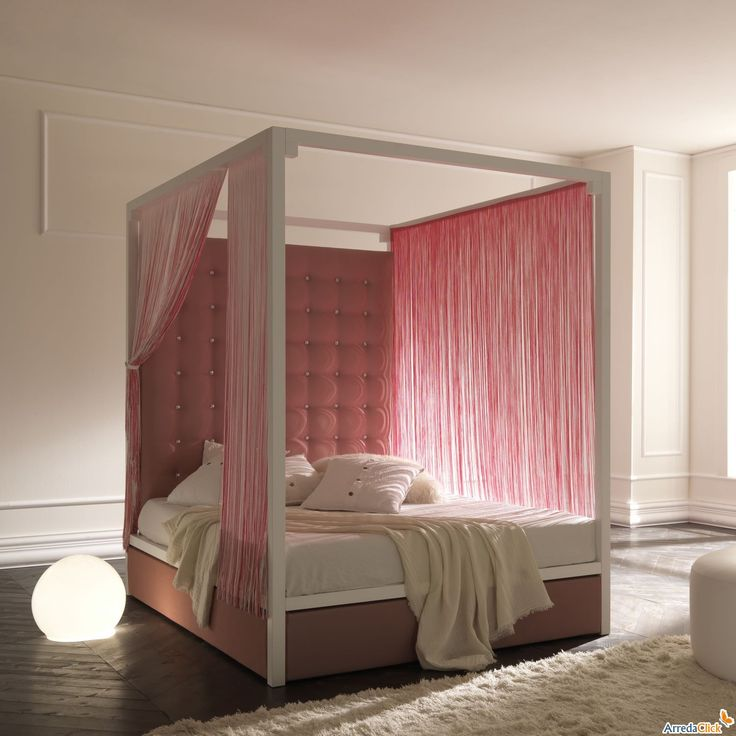 Pink canopy bed. You sexy thing!   Bedroom Fancies   Pinterest