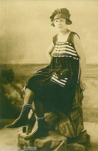 Photo print of 1920 39 s art deco era fashion girl in bathing for Art deco era clothing