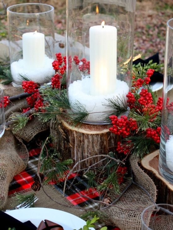 Christmas Centerpiece Rustic : Rustic christmas centerpieces