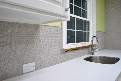 penny tile backsplash young house love