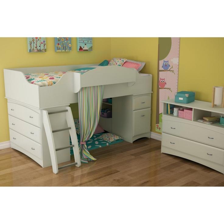 Imagine Low Loft Bed Pure White