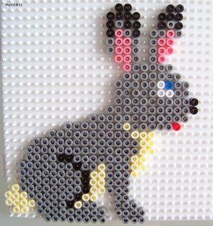Rabbit hama perler beads by les loisirs de pat