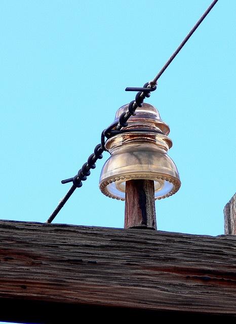 Old glass insulator glass telephone pole insulators for Glass telephone pole insulators