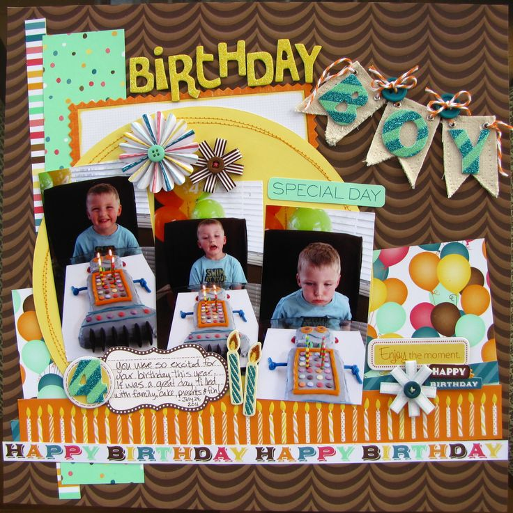 Birthday Boy - Scrapbook.com | Scrapbook Ideas | Pinterest