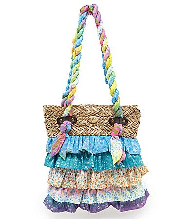 Blue Miami Ruffle Tote Bag #Dillards -- Wish I had found something ...