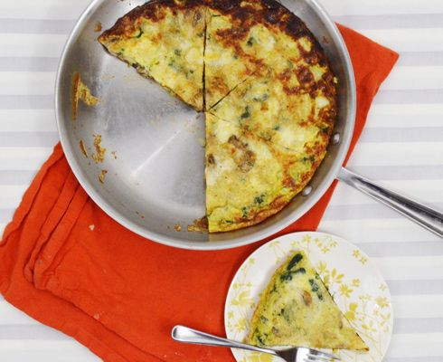 Mushroom, Leek, Potato and Spinach Frittata