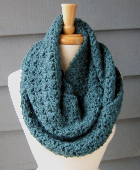 Free Crochet Infinity Scarf Patterns For Beginners : Printable Crochet Infinity Scarf Pattern DIY / CROCHET ...