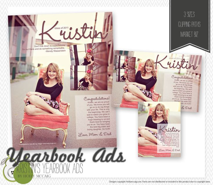 Pinterest for Senior yearbook ad ideas