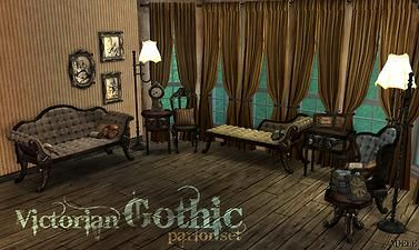 Mod The Sims Victorian Gothic Set Sims  Furniture