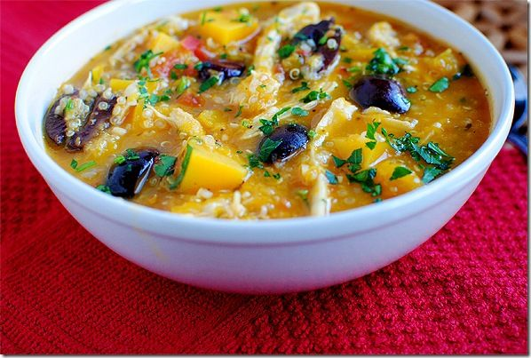 Butternut Chicken Quinoa Soup | Where the Stomach meets the Mind. | P ...