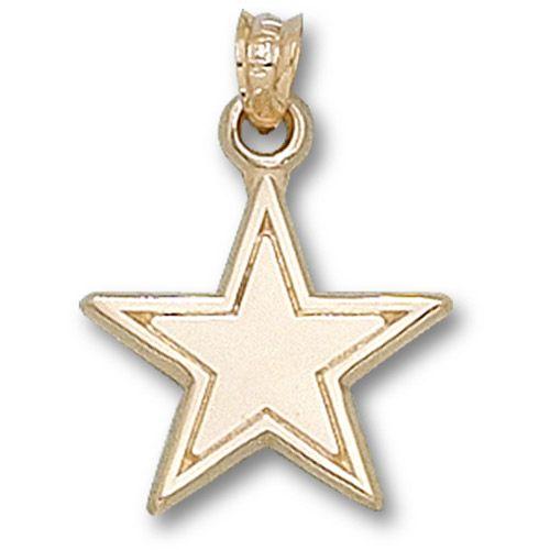 dallas cowboys gold pendant cowboys