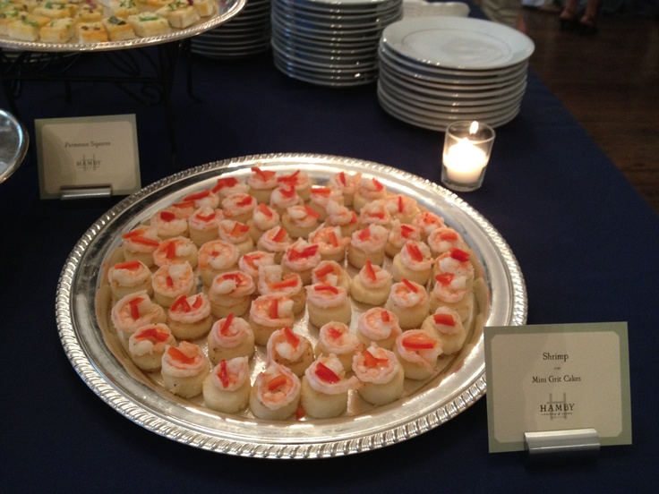 Shrimp & Cheddar Cheese Grit Cake | Wedding | Pinterest