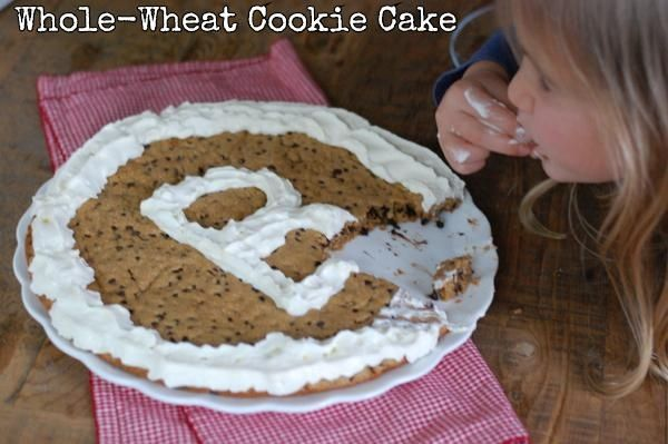 Recipe: Whole-Wheat Cookie Cake. | COOKIES/BARS | Pinterest