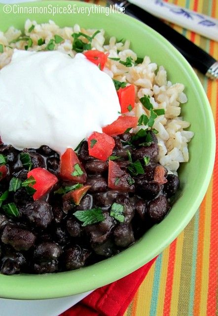 Cuban-Style Black Bean and Rice Bowls | Clay pot cooking | Pinterest