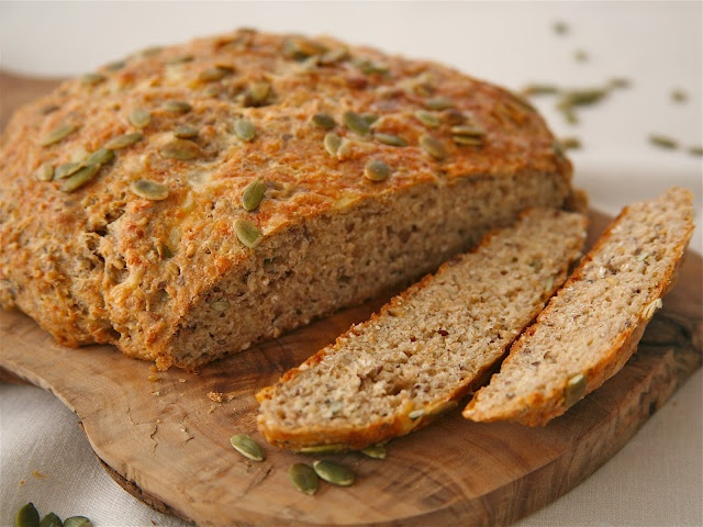 oatmeal bread with cheddar and pumpkin seeds recipe