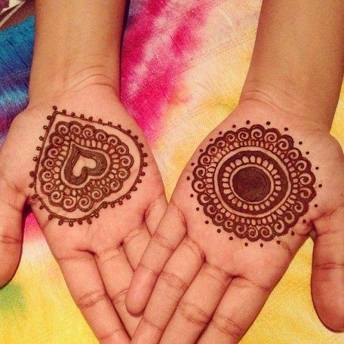 Heart Mehndi Design Images : Heart and round shape arabic mehandi henna
