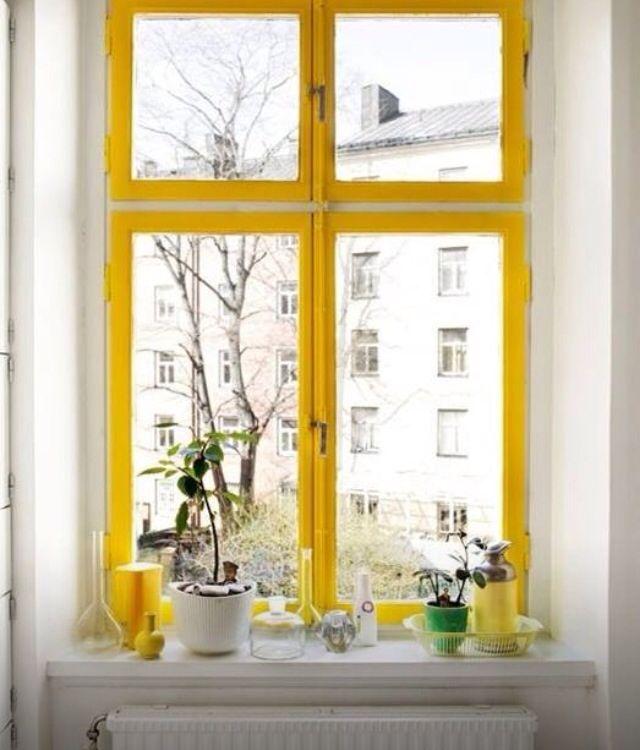 Yellow window frame | Design Inspiration | Pinterest