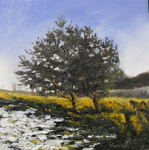"""""""Twilight Winter~ 12x12~ oil on canvas"""" $200.00 by Vincenza Harrity"""