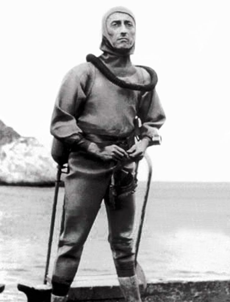 Jacques cousteau- co-inventor of the aqualung