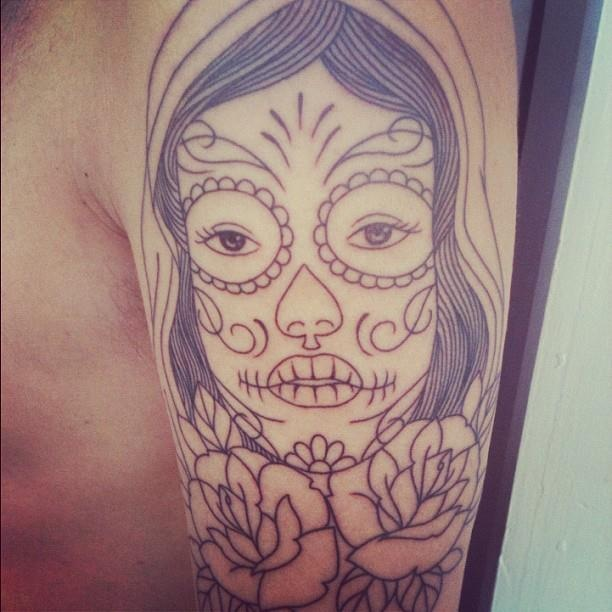 My mexican girl tattoo tattoos pinterest for Mexican girl tattoos
