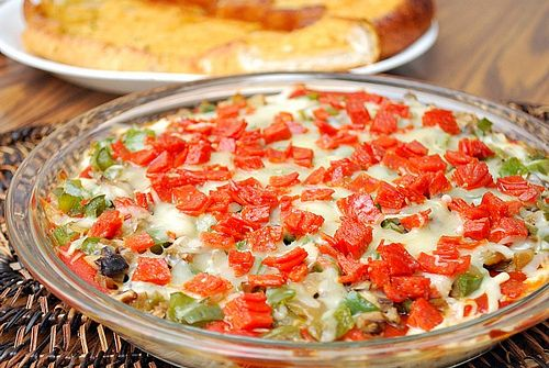 Hot pizza dip... has all the same ingredients as a Supreme pizza (my ...