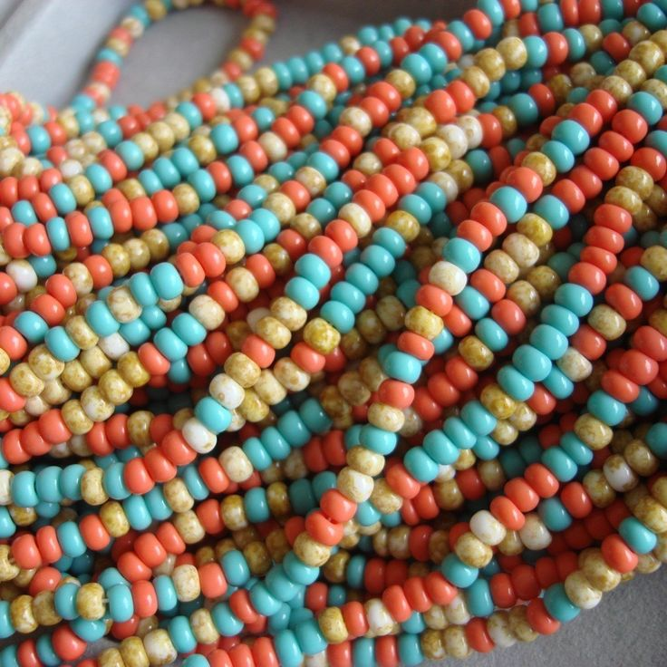 tucson bead show 6 0 seed bead mix in southwest color