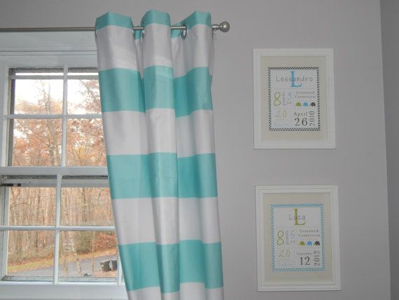 Horizontal striped curtains with grommets set of two 84 quot panels