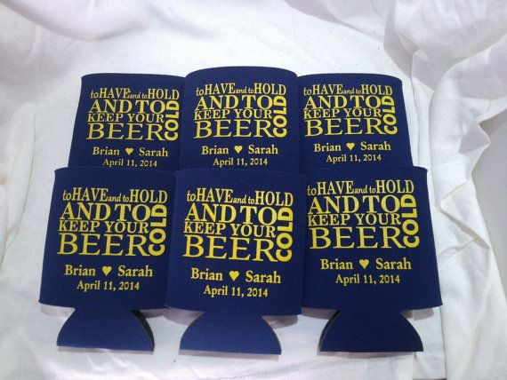 To have and to hold koozies lot of 50 personalized wedding custom beer