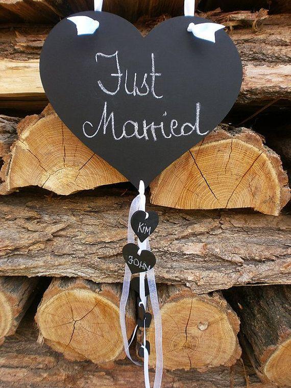 Chalkboard Wood Wedding Sign Heart Here by MelindaWeddingDesign, $29.00