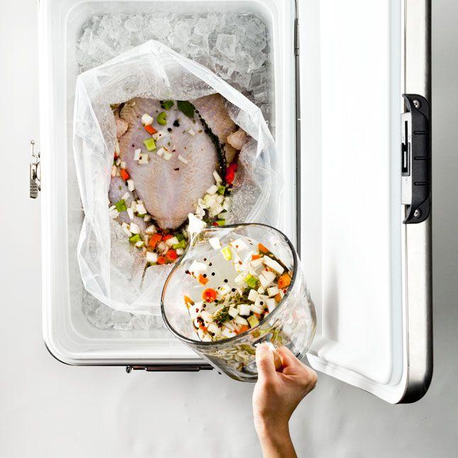 ... IDEA TO KEEP BRINING TURKEY COLD! A Simple Turkey Brine - Thanksgiving