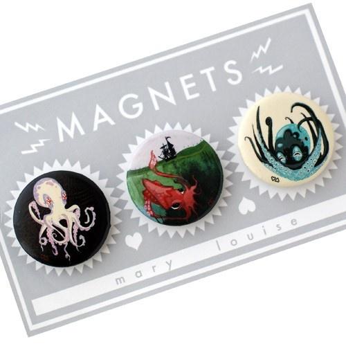 Fine Art Magnet Set - Tentacles #octopus #squid